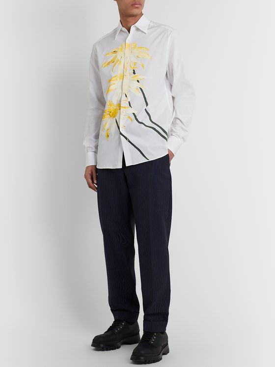 Loewe Slim-Fit Printed Cotton-Poplin Shirt