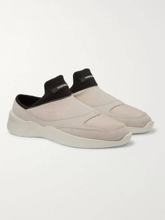 Fear of God Essentials Suede, Leather and Neoprene Backless Sneakers