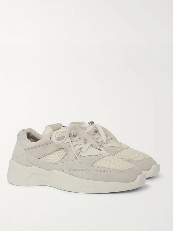 FEAR OF GOD ESSENTIALS Nubuck, Suede and Mesh Sneakers