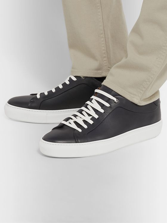 Hugo Boss Full-Grain Leather Sneakers