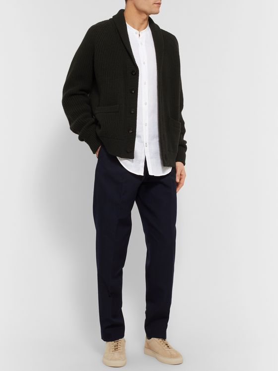 Hugo Boss Grandad-Collar Linen Shirt
