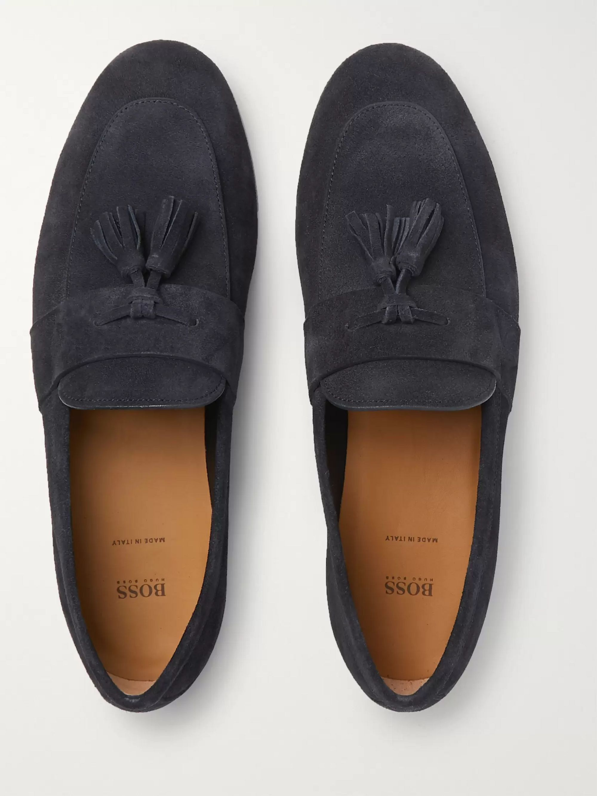 Hugo Boss Soho Suede Tasselled Loafers
