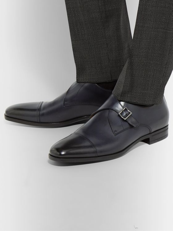 Hugo Boss Leather Monk-Strap Shoes