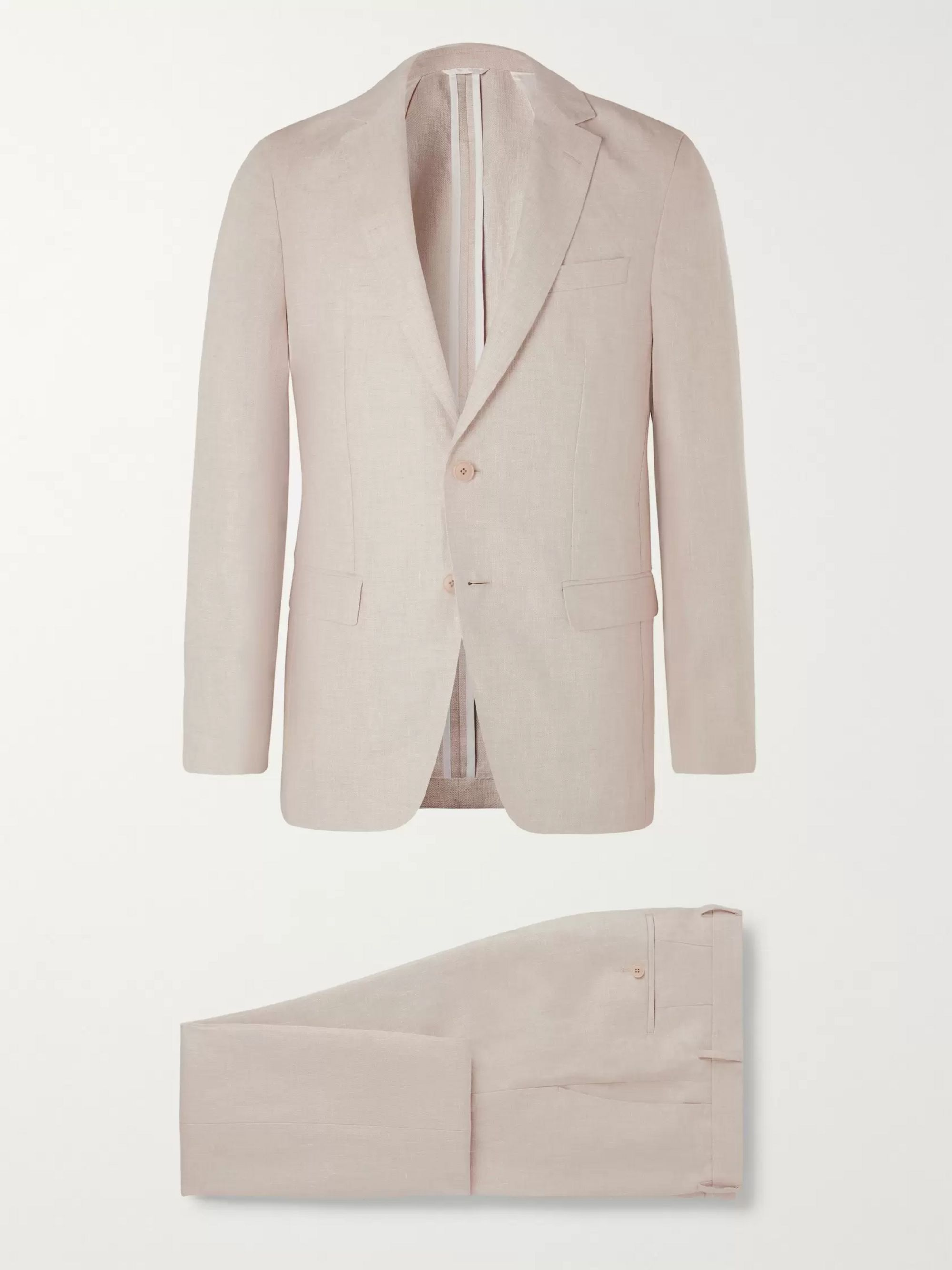 Hugo Boss Nelin Ben Slim-Fit Linen Suit