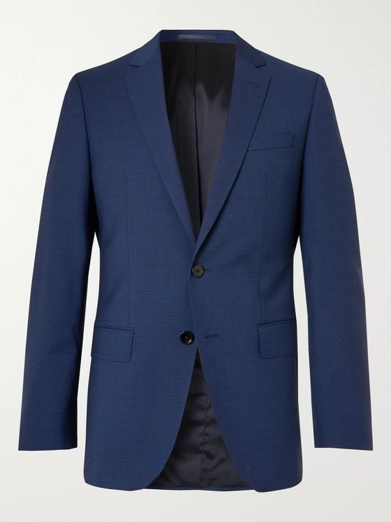 Hugo Boss Huge Micro-Checked Virgin Wool Suit Jacket