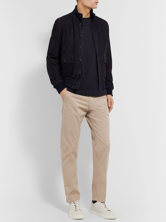 Hugo Boss Slim-Fit Stretch-Cotton Twill Chinos