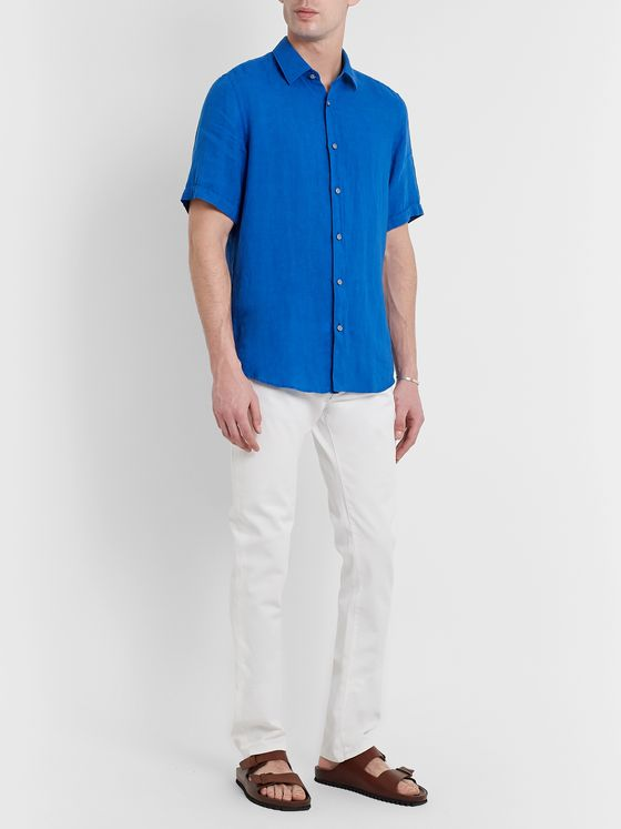Hugo Boss Garment-Dyed Linen Shirt