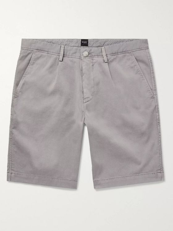 Hugo Boss Slim-Fit Stretch-Cotton Twill Shorts