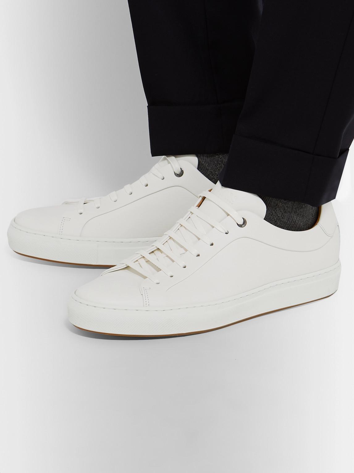 Hugo Boss Mirage Leather Sneakers In