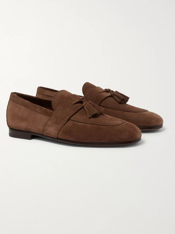Hugo Boss Soho Tasselled Suede Loafers