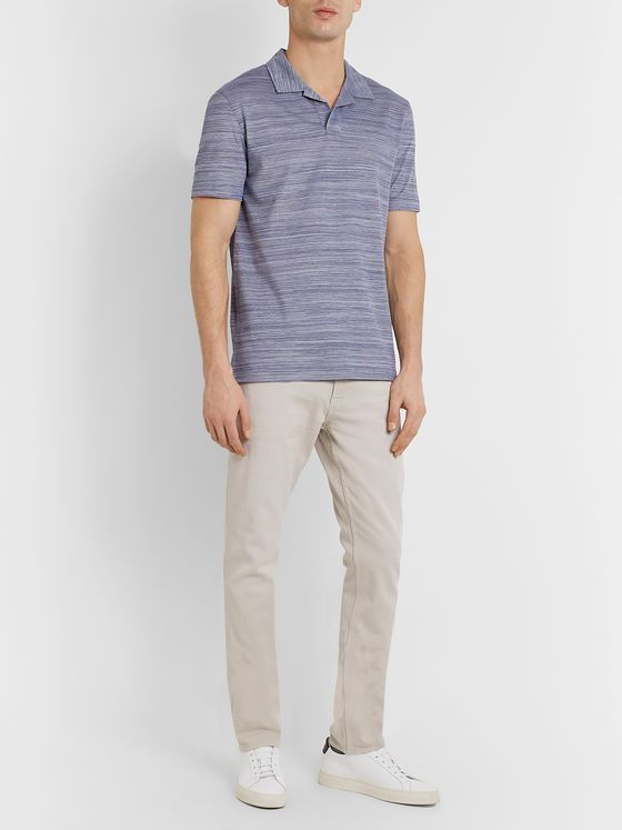 Hugo Boss Mélange Cotton-Piqué Polo Shirt