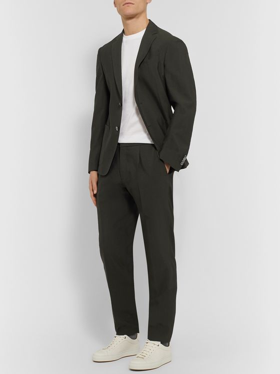 Hugo Boss Slim-Fit Wool-Blend Seersucker Suit Jacket