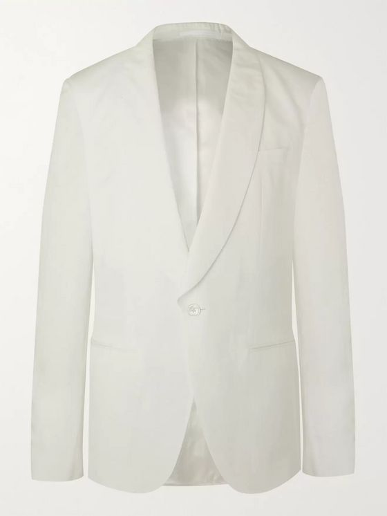 Hugo Boss Howan Slim-Fit Lyocell and Linen-Blend Tuxedo Jacket