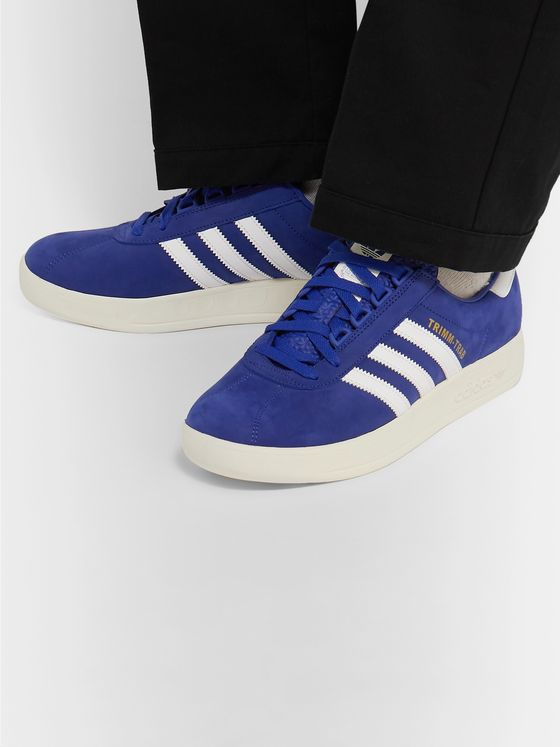 adidas Originals Trimm-Trab Leather-Trimmed Suede Sneakers