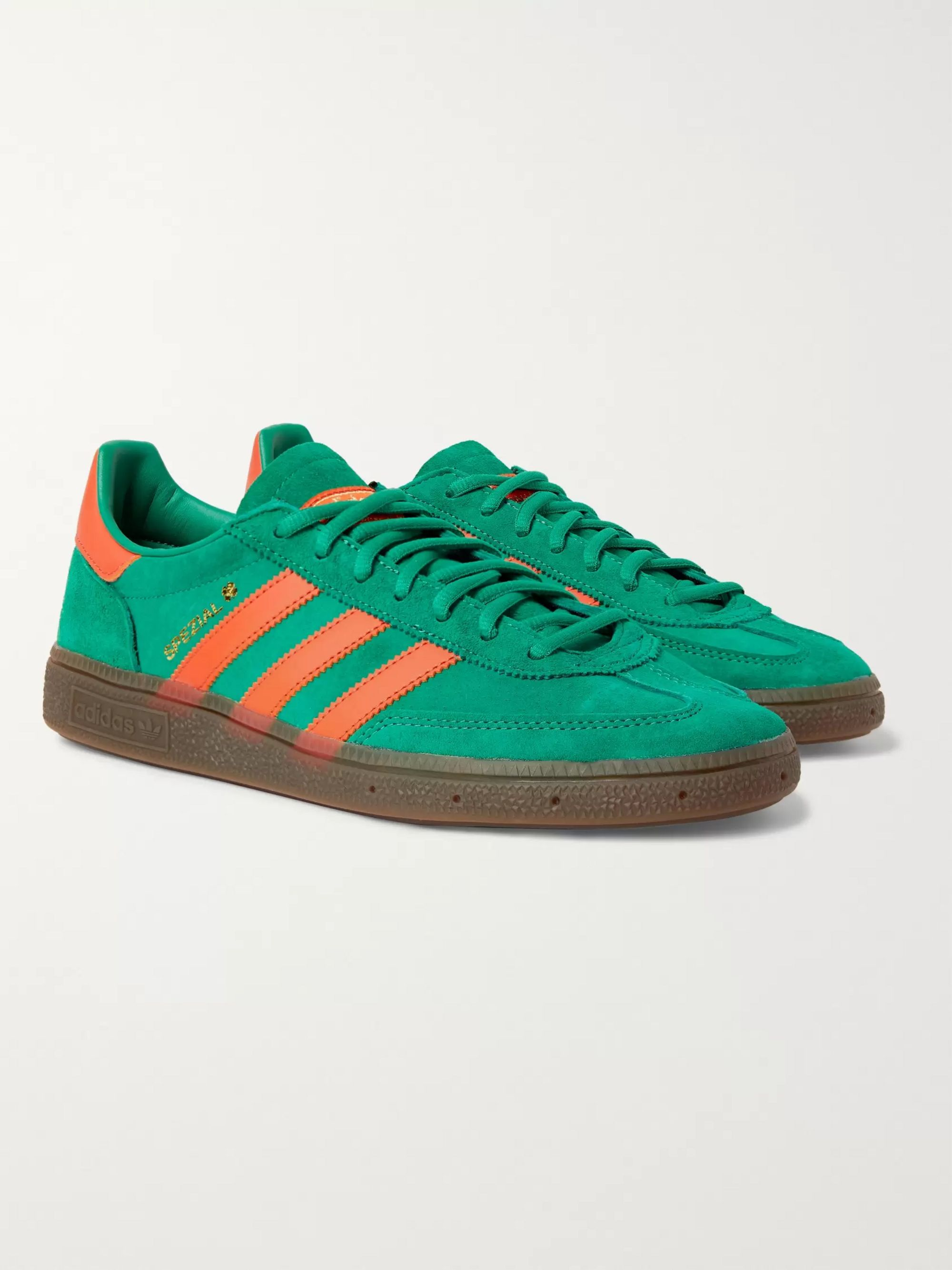 adidas Originals Handball Spezial Leather-Trimmed Suede Sneakers