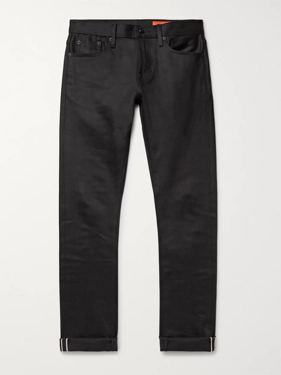 Jean Shop Jim Slim-Fit Selvedge Stretch-Denim Jeans