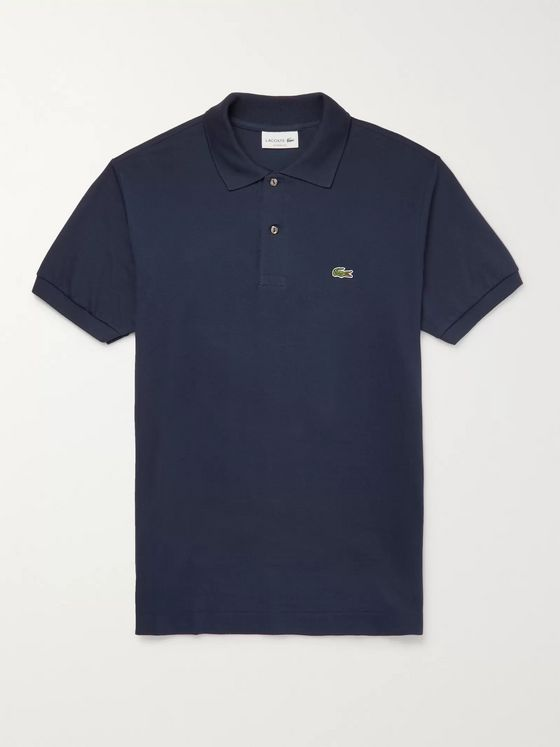 Lacoste Logo-Appliquéd Cotton-Piqué Polo Shirt