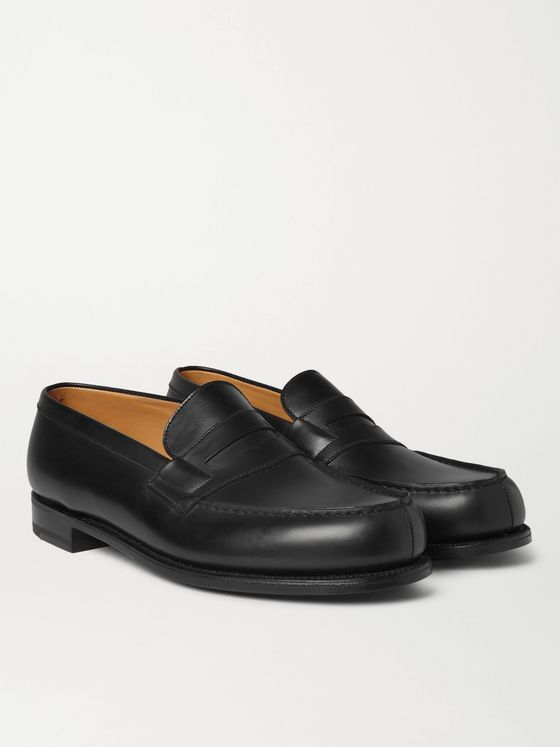 J.M. Weston 180 Moccasin Leather Penny Loafers