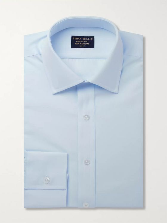 Emma Willis Blue Cotton Shirt