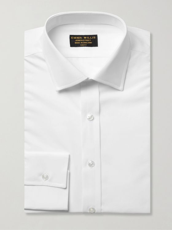EMMA WILLIS White Slim-Fit Cotton Shirt