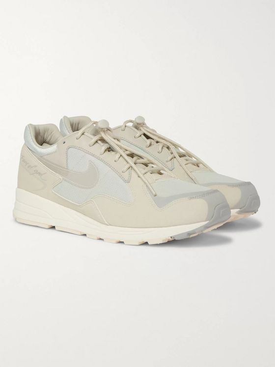 Nike + Fear of God Air Skylon II Leather, Felt and Mesh Sneakers