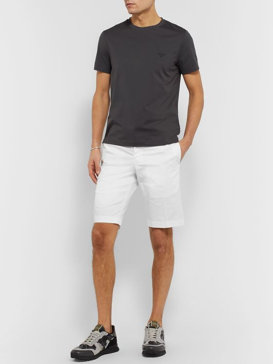 Prada Slim-Fit Cotton-Blend Gabardine Chino Shorts