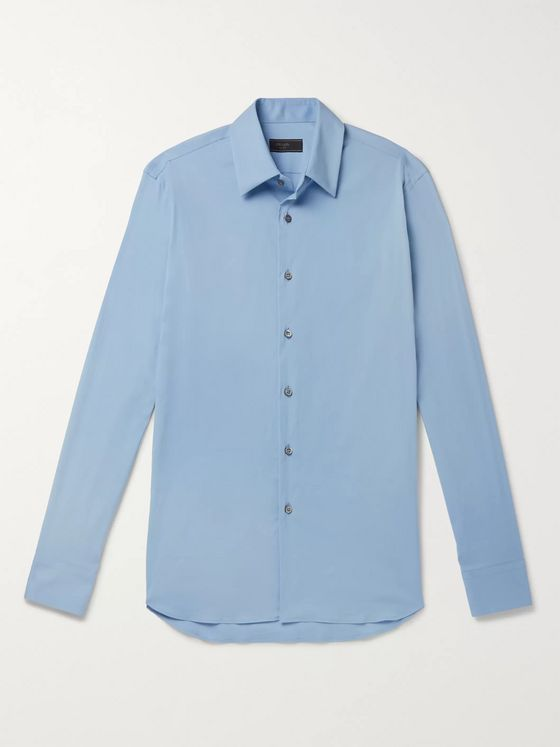 Prada Slim-Fit Stretch-Cotton Shirt