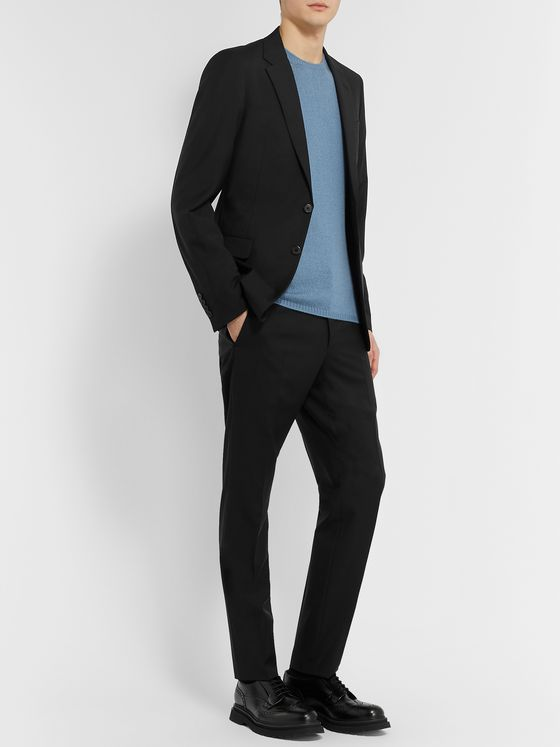 PRADA Black Slim-Fit Virgin Wool and Mohair-Blend Suit