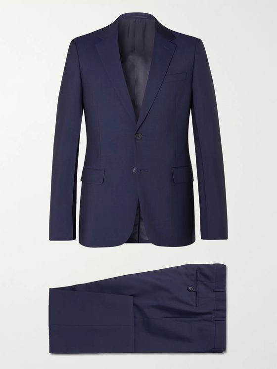 PRADA Navy Classic Tela Slim-Fit Wool and Mohair-Blend Suit