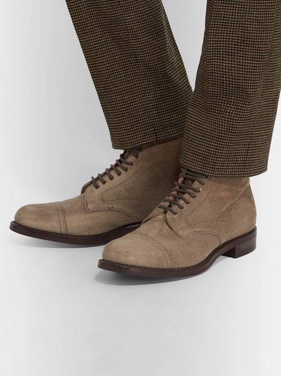 Cheaney Jarrow Cap-Toe Suede Boots