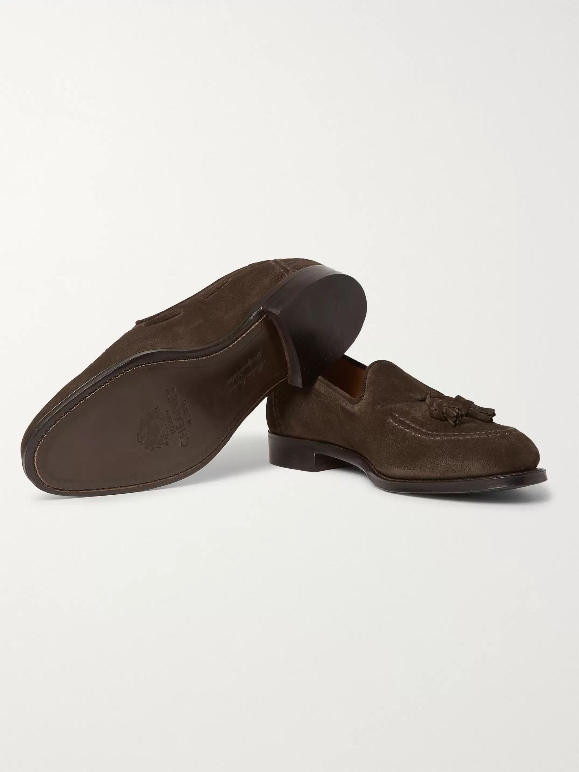 Cheaney Harry II Burnished-Leather Tasselled Loafers