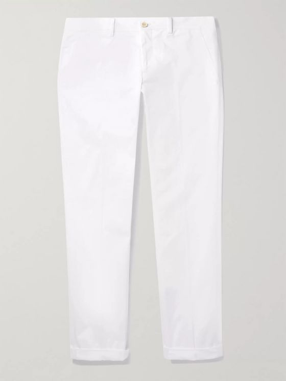 PRADA Slim-Fit Cotton-Blend Gabardine Chinos