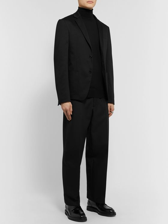 Prada Black Slim-Fit Cotton Blazer