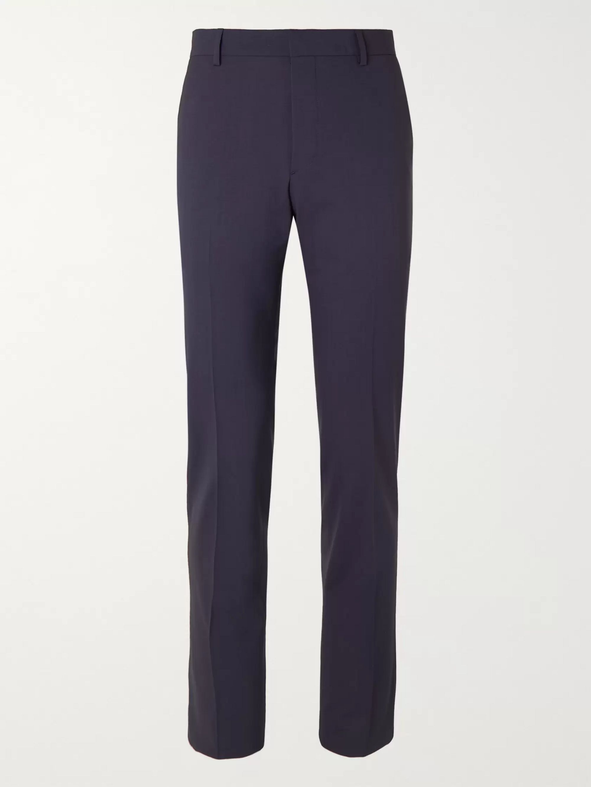 Prada Navy Tela Slim-Fit Virgin Wool-Blend Suit Trousers