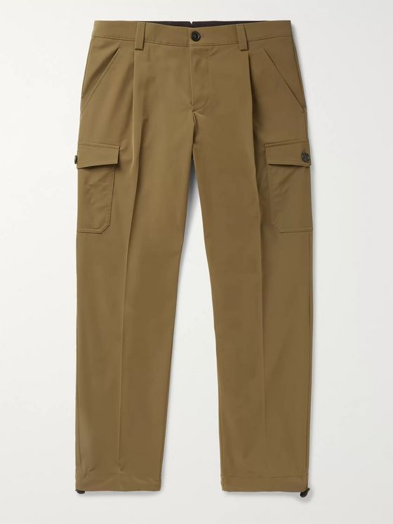 Prada Slim-Fit Tapered Pleated Tech-Twill Cargo Trousers