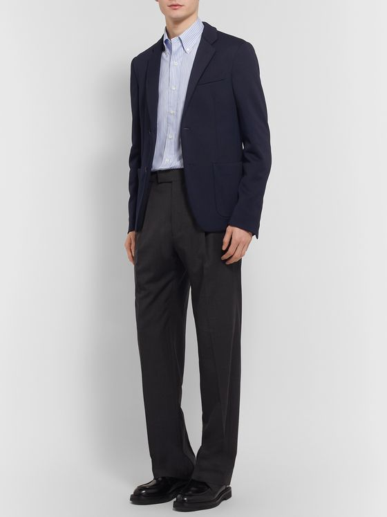 Prada Navy Slim-Fit Piqué Blazer