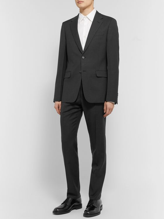 Prada Anthracite Slim-Fit Virgin Wool-Hopsack Suit
