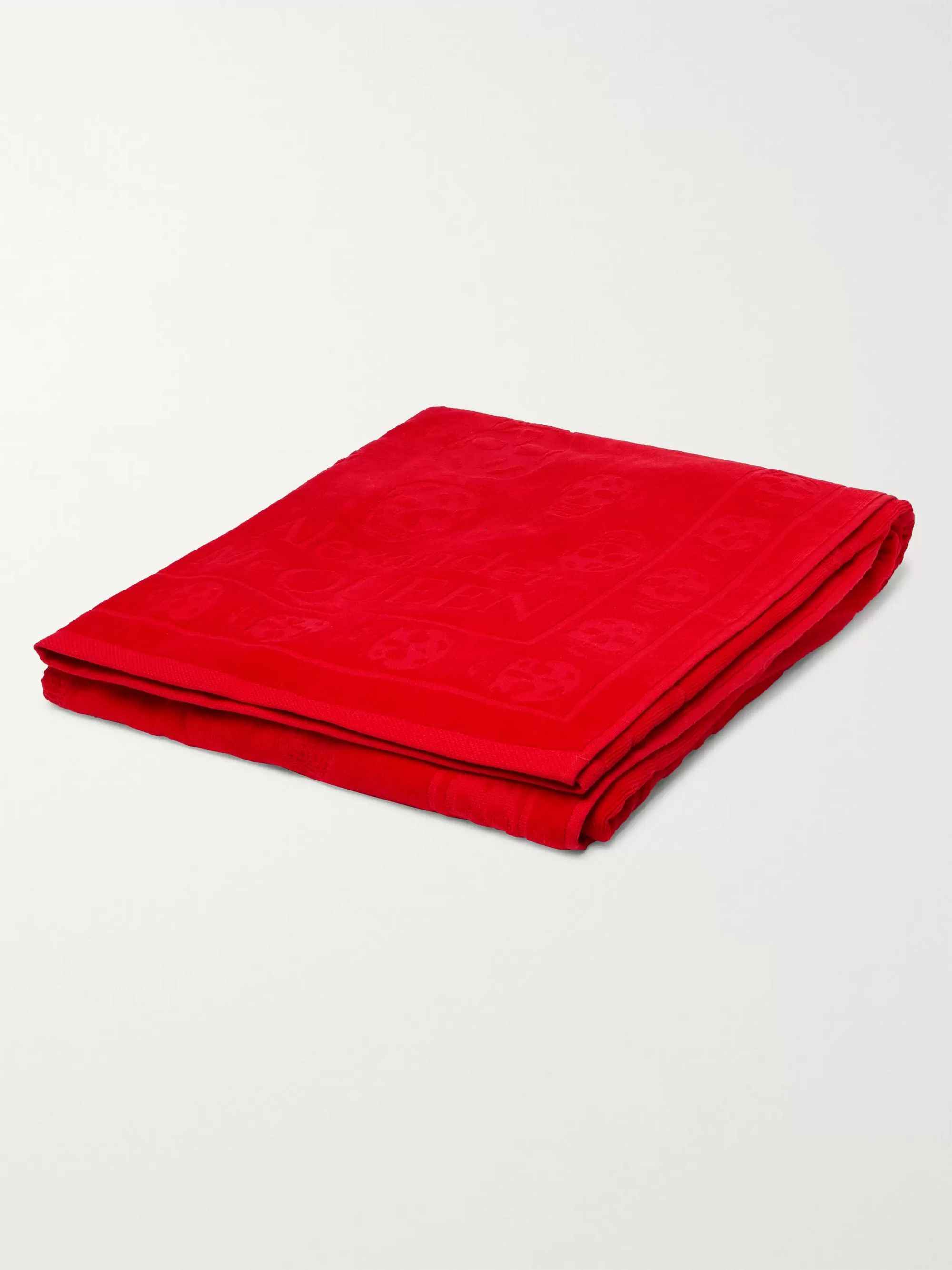 Alexander McQueen Cotton-Jacquard Beach Towel