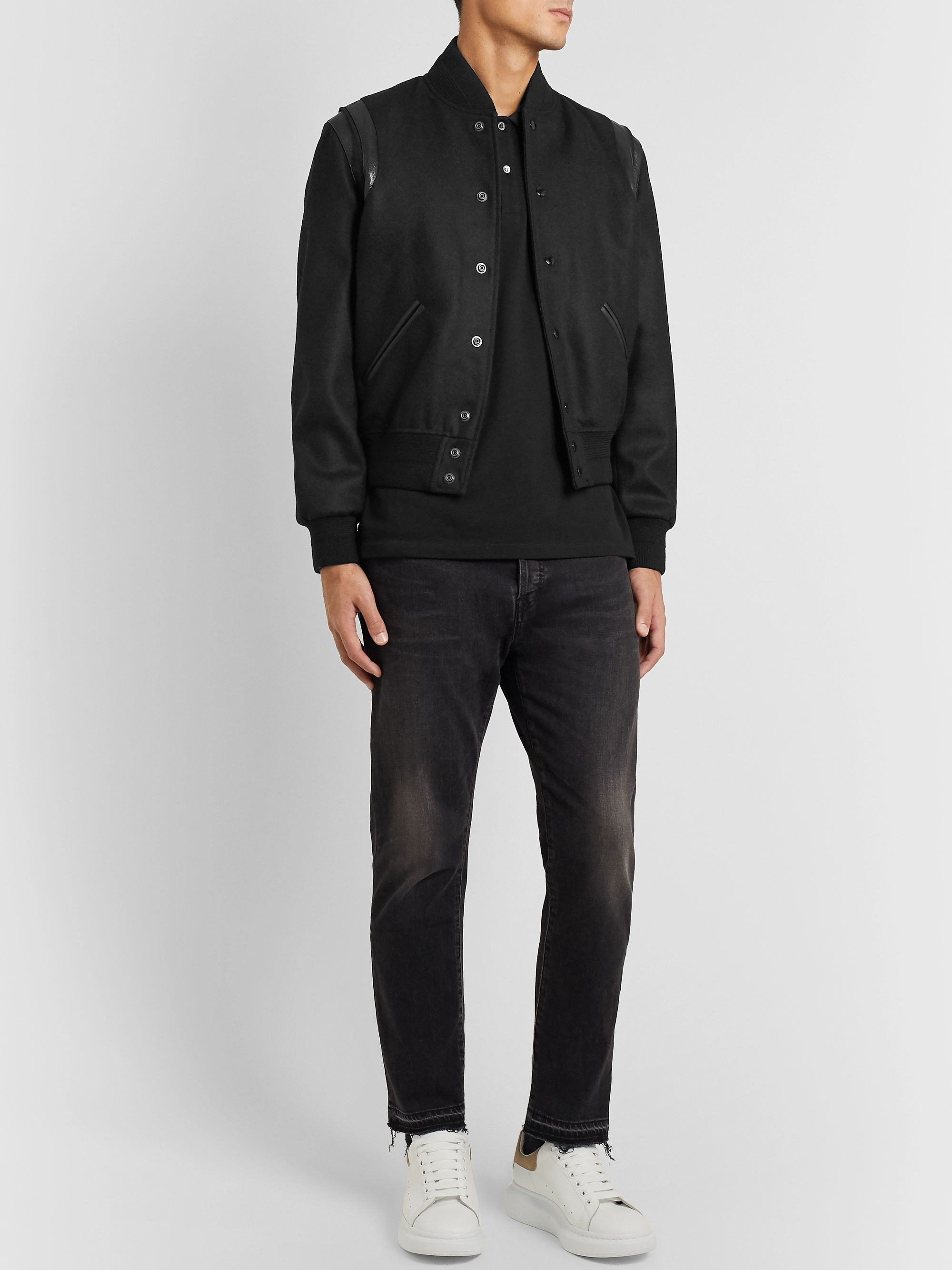 Alexander McQueen Slim-Fit Skull-Embellished Organic Cotton-Piqué Polo Shirt