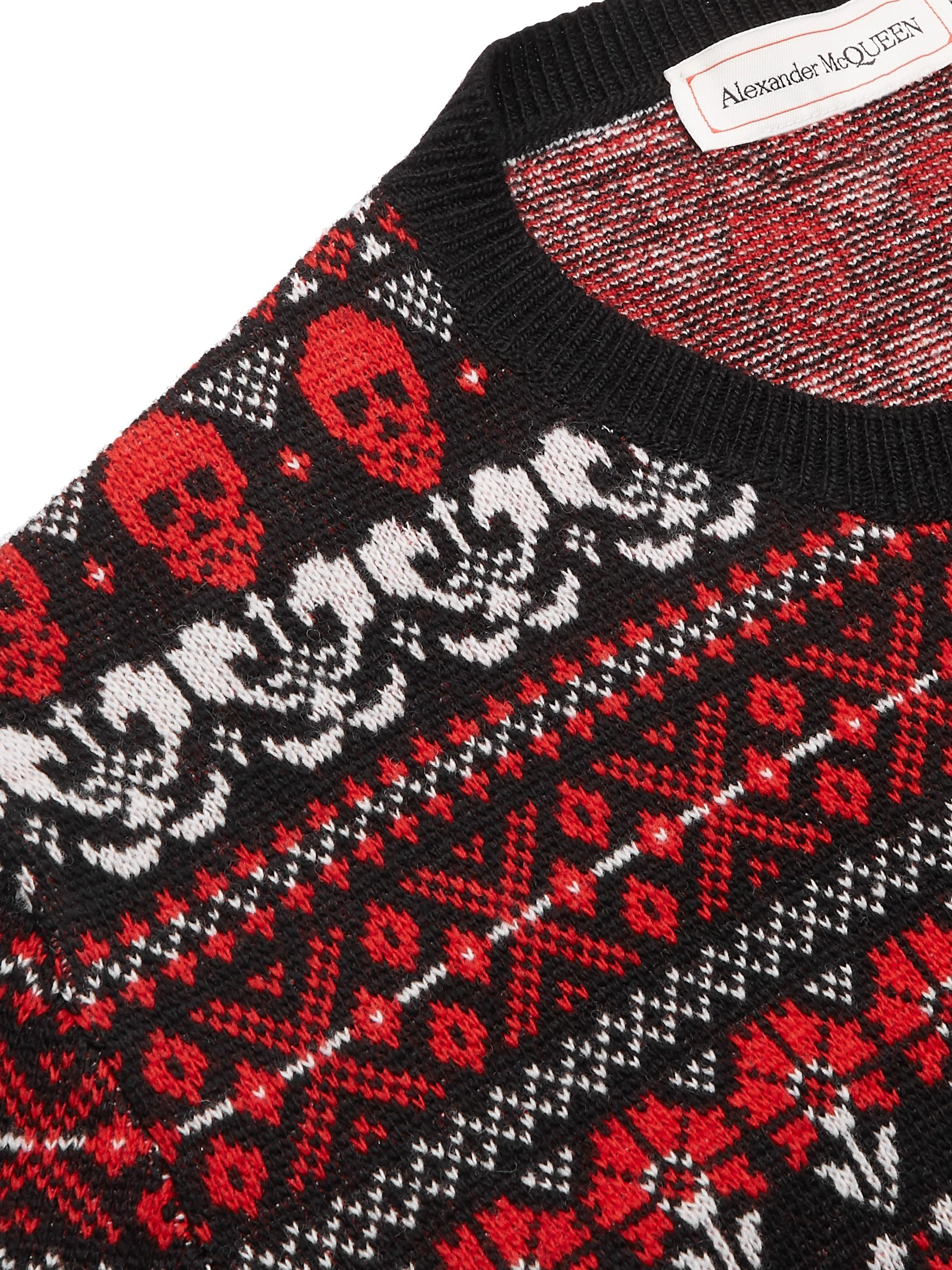 Alexander McQueen Slim-Fit Fair Isle Wool Sweater