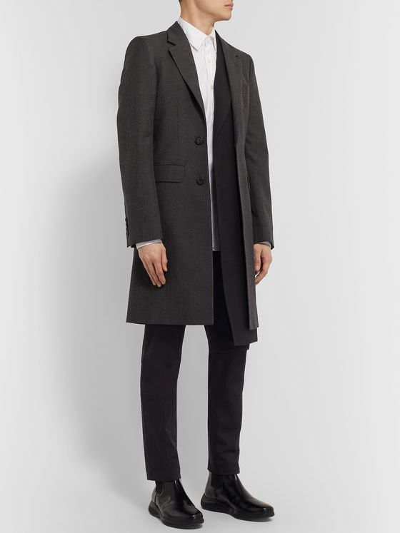 Alexander McQueen Slim-Fit Layered Gabardine Coat