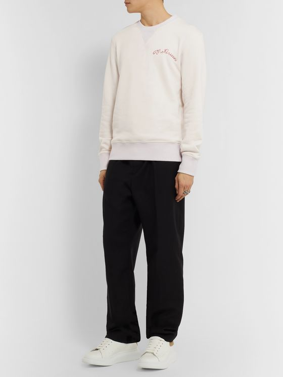 Alexander McQueen Logo-Embroidered Loopback Cotton-Jersey Sweatshirt