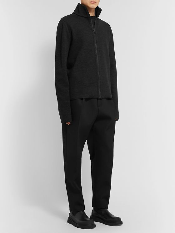 BOTTEGA VENETA Stretch-Knit Zip-Up Sweater