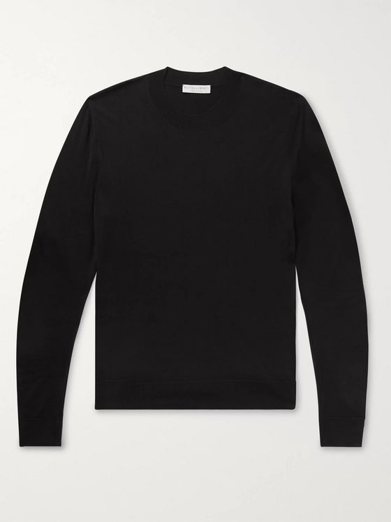 Bottega Veneta Slim-Fit Logo-Intarsia Wool Sweater