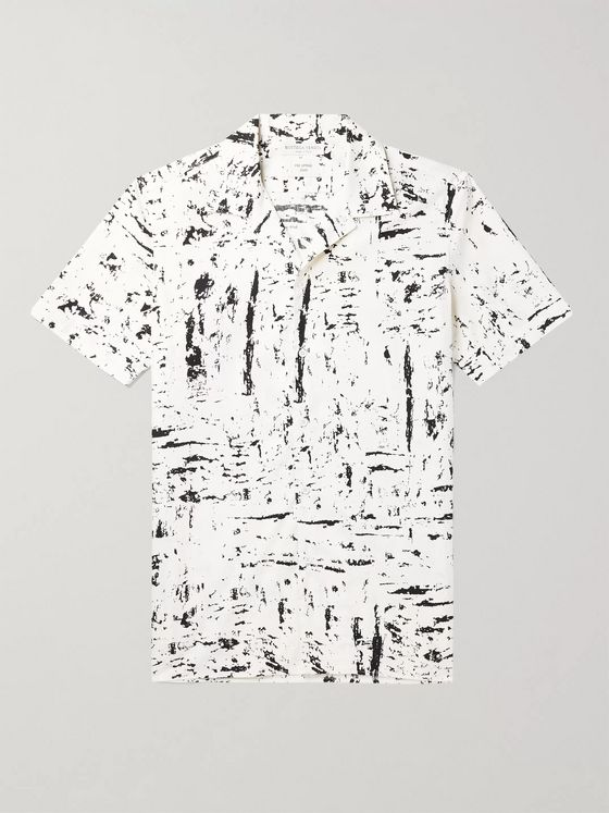 BOTTEGA VENETA Camp-Collar Printed Cotton Shirt