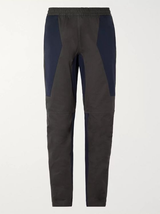 Bottega Veneta Slim-Fit Tapered Panelled Cotton Trousers