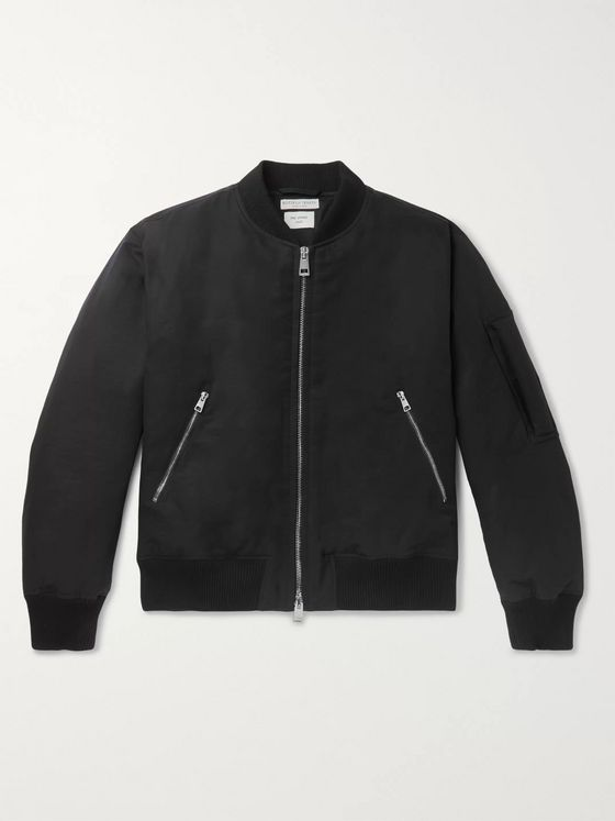 Bottega Veneta Padded Cotton-Blend Twill Bomber Jacket