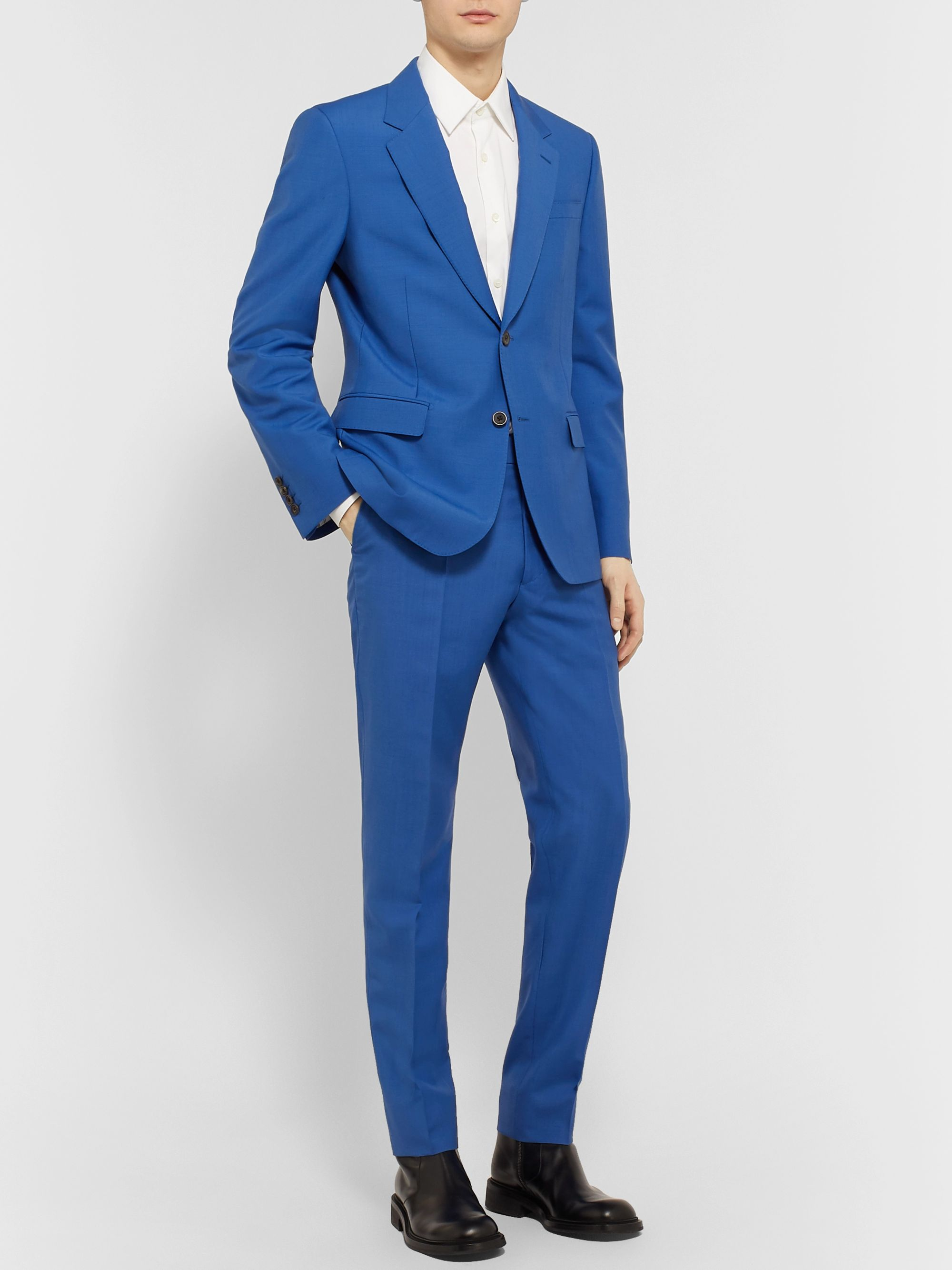 Alexander McQueen Navy Slim-Fit Wool and Mohair-Blend Suit Trousers