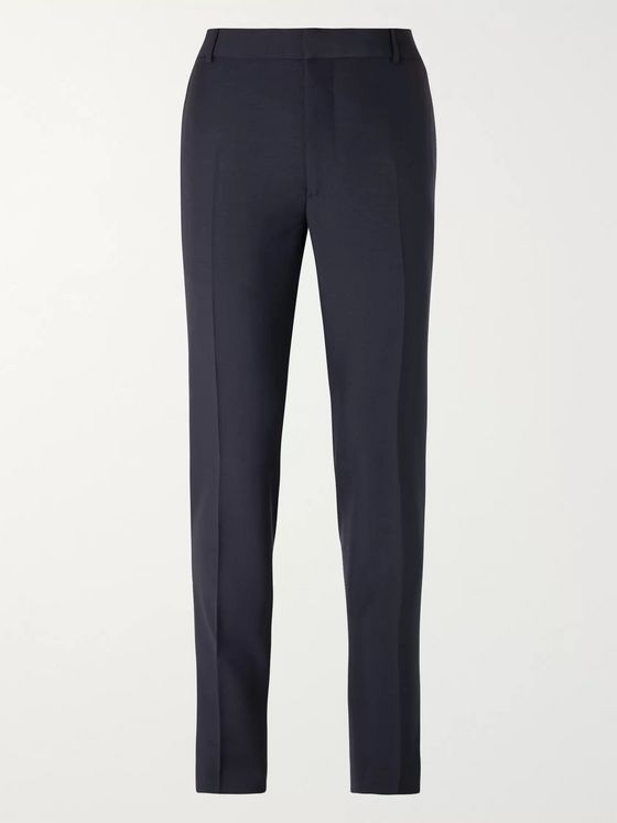 Alexander McQueen Cobalt-Blue Slim-Fit Wool and Mohair-Blend Suit Trousers