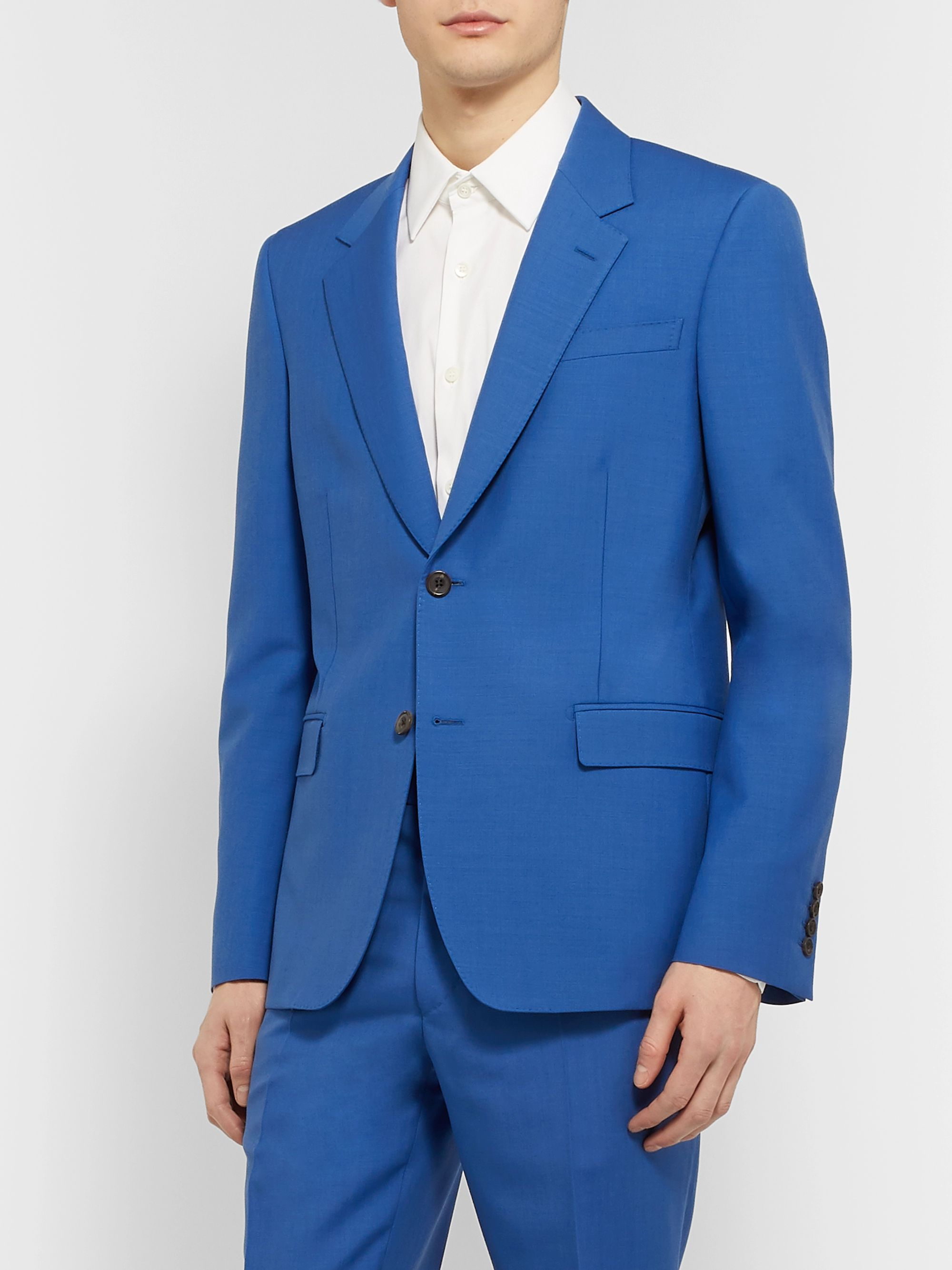 amazing price pick up online store Blue Cobalt-Blue Slim-Fit Wool and Mohair-Blend Suit Jacket ...